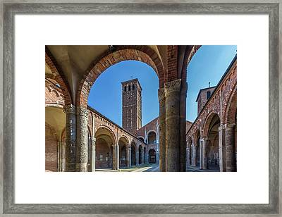 Milan Basilica Sant'ambrogio Framed Print