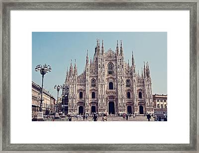 Milan Cathedral Framed Print by Benjamin Matthijs