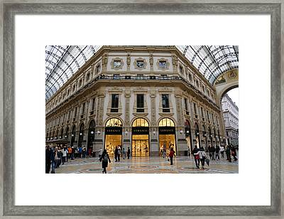 Milan Galleria 2 Framed Print by Andrew Fare