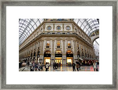 Milan Galleria 3 Framed Print by Andrew Fare