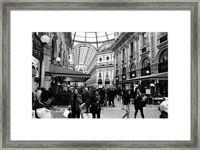 Milan Galleria 4b Framed Print by Andrew Fare