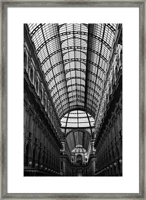 Milan Galleria 5b Framed Print by Andrew Fare