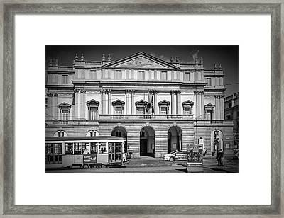 Milan Monochrome Teatro Alla Scala Framed Print