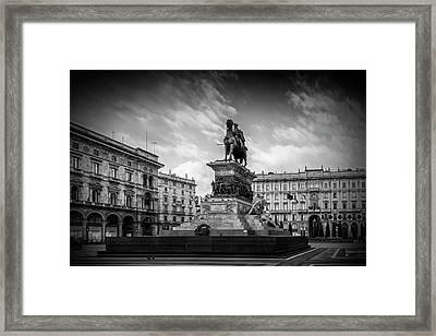 Milan Monument Of Vittorio Emanuele II Framed Print