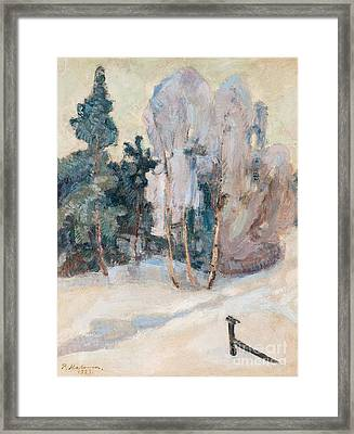 Mild Winter Day In Tuusula Framed Print