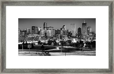 Mile High Skyline Framed Print