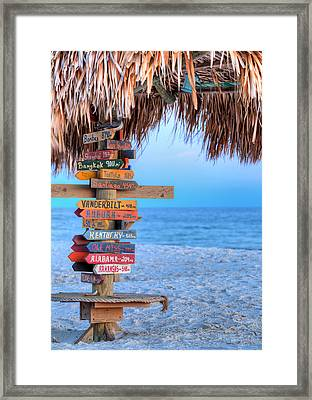 Mileage To Paradise  Framed Print by JC Findley