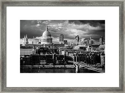 Milennium Bridge And St. Pauls, London Framed Print