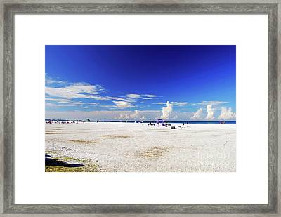 Framed Print featuring the photograph Miles And Miles Of White Sand by Gary Wonning