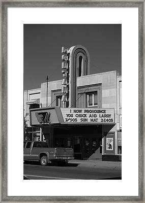 Miles City, Montana - Theater 4 Framed Print