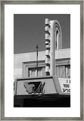 Miles City, Montana - Theater Marquee 2 Framed Print