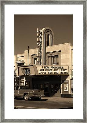 Miles City, Montana - Theater Sepia Framed Print