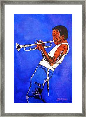 Miles Davis-miles And Miles Away Framed Print by Bill Manson