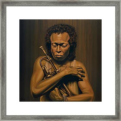 Miles Davis Painting Framed Print by Paul Meijering