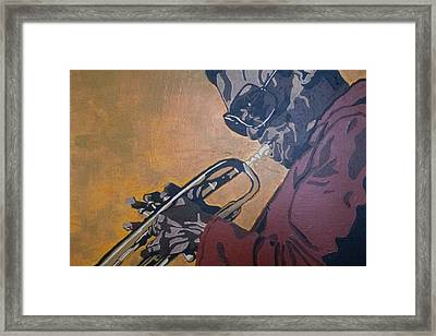 Framed Print featuring the painting Miles Davis by Rachel Natalie Rawlins