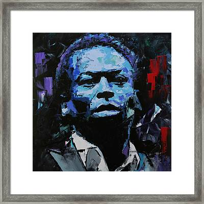 Framed Print featuring the painting Miles Davis by Richard Day