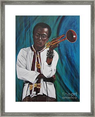 Miles-in A Really Cool White Shirt Framed Print