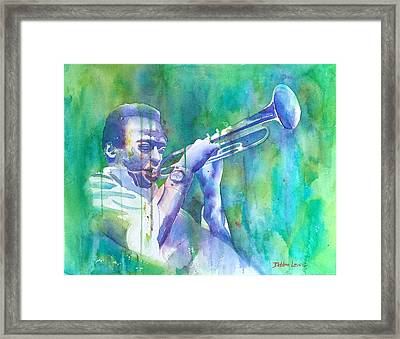 Miles Is Cool Framed Print