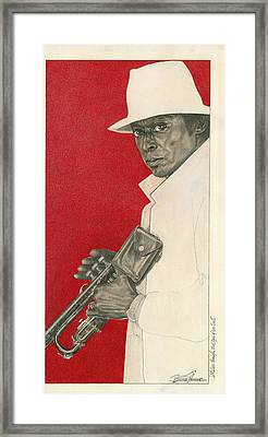Miles Through Steel Eyes Of The Soul Framed Print by Buena Johnson