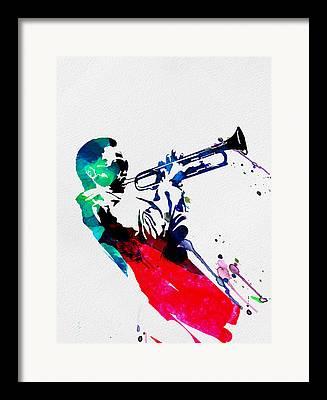 Mardi Gras Digital Art Framed Prints