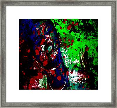 Miley Cyrus Doing My Thang II Framed Print by Brian Reaves