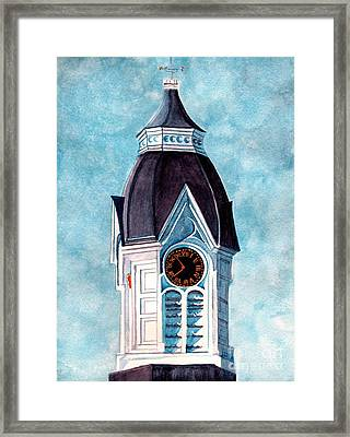 Milford Clock Tower Framed Print