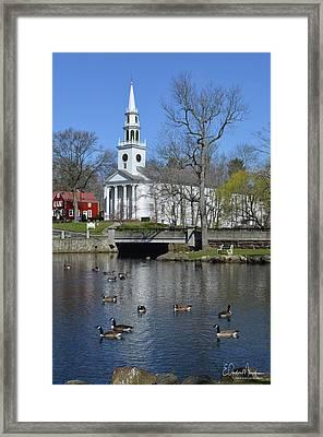 Milford Congregational Church Framed Print