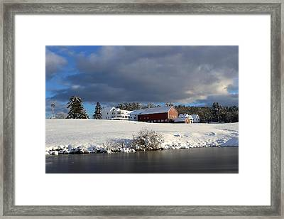 Milford Winter Framed Print