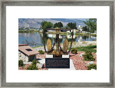 Military Anchor Memorial Cody Wyoming Framed Print