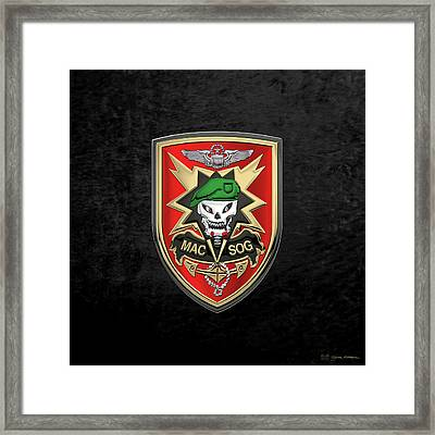 Military Assistance Command, Vietnam Studies And Observations Group Patch Over Black Velvet Framed Print