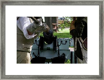 Military Field Artillery Revolutionary War 02 Framed Print by Thomas Woolworth