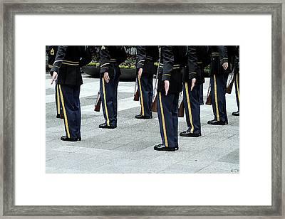 Military Formation Framed Print by Karol Livote