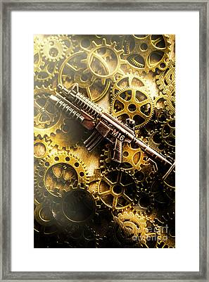 Military Mechanics Framed Print