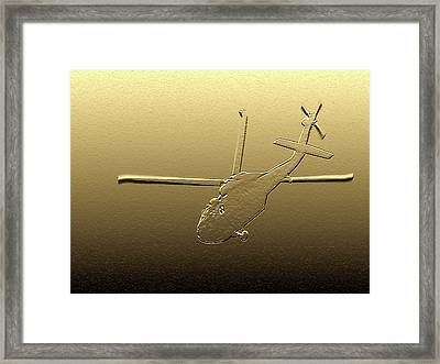 Military Medic Helo - Digital Art Framed Print by Al Powell Photography USA