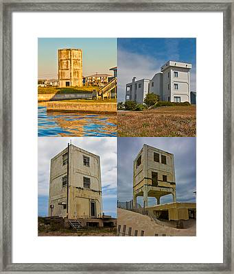 Military Observation Towers Operation Bumblebee Framed Print by Betsy Knapp