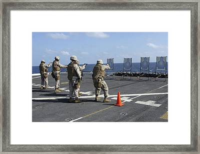 Military Policemen Train Framed Print by Stocktrek Images