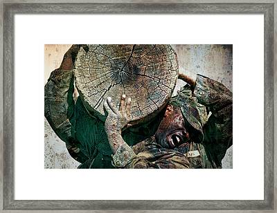 Military Training, Sweat And Pain Framed Print by Daniel Hagerman