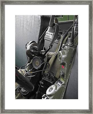 Military Vehicle Radio Framed Print by Dawn Hay