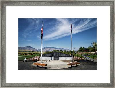 Military Vietnam Memorial Cody Wyoming Framed Print