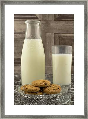 Milk And Cookies Framed Print by F Helm