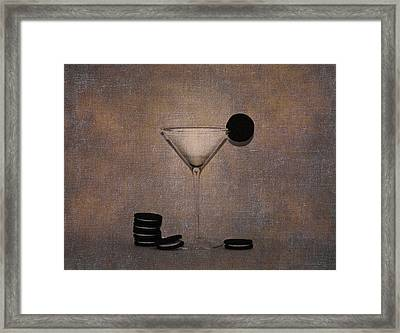 Milk And Cookies - Grunge Framed Print by Bill Cannon