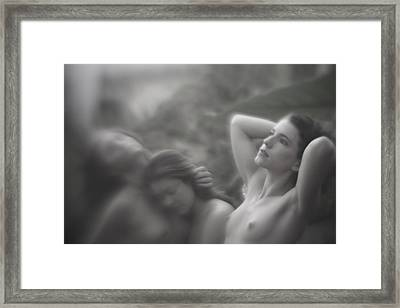 Milk And Kisses Framed Print by Mel Brackstone