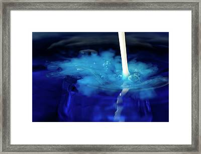 Framed Print featuring the photograph Milk And Water by Rico Besserdich