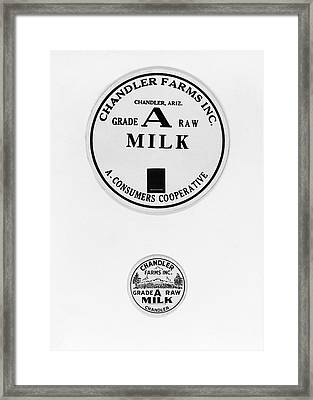 Milk Bottle Caps Framed Print by Russell Lee