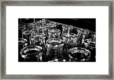 Milk Bottles Framed Print by Robin Flint