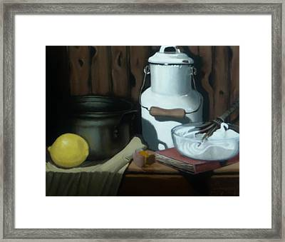 Milk Jug Meringue Framed Print