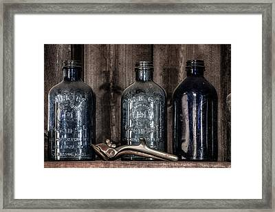 Milk Of Magnesia Bottles Framed Print