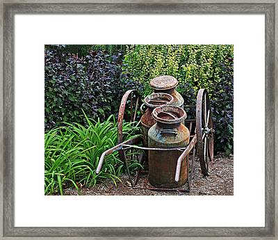 Milk Pails Framed Print