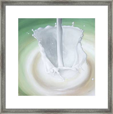 Milk Pour Framed Print by Michelle Iglesias