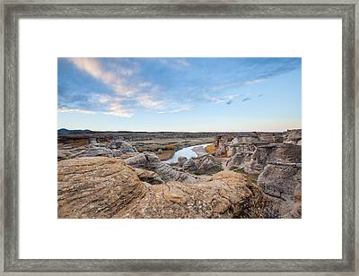 Framed Print featuring the photograph Milk River Sun Up by Fran Riley